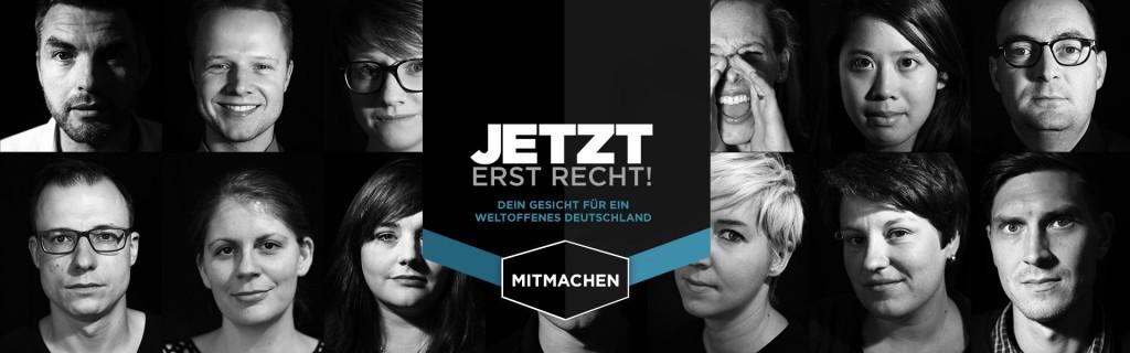 Gesicht Zeigen Online-Kampagne JETZT ERST RECHT