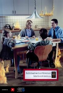 Plakatkampagne Flächenbrand