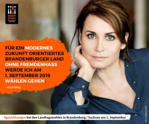 Anja Kling zeigt Gesicht vor der Landtagswahl