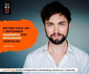 Björn Harras zeigt Gesicht vor der Landtagswahl in Sachsen