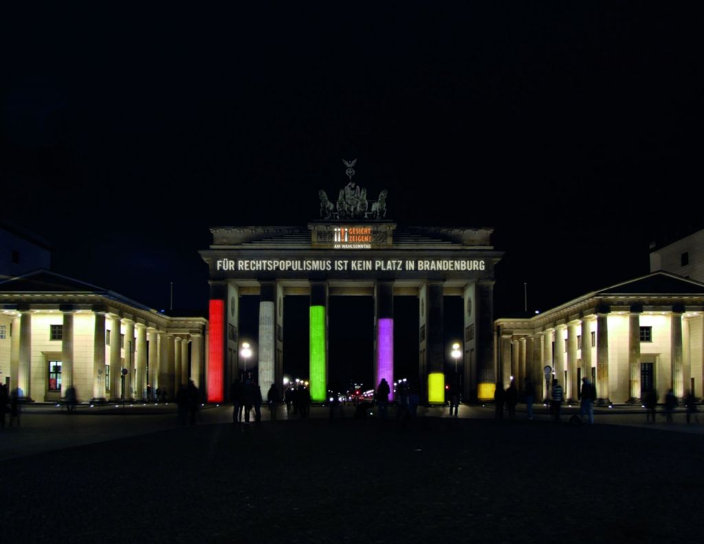 Wahlprognose Branenburg am Brandenburger Tor