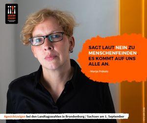 Manja Praekels eigt Gesicht vor der Landtagswahl