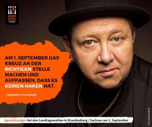Sebastian Krumbiegel zeigt Gesicht vor der Landtagswahl