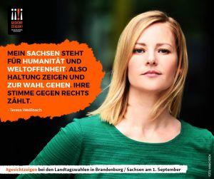 Teresa Weißbach Wahlaufruf zur Landtagswahl 2019