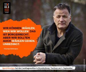 Thomas Ruehmann zeigt Gesicht vor der Landtagswahl