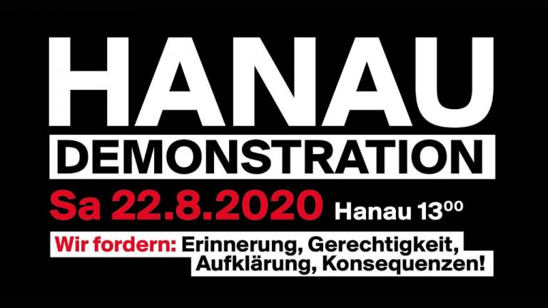 Aufruf Demo Hanau 22.August 2020