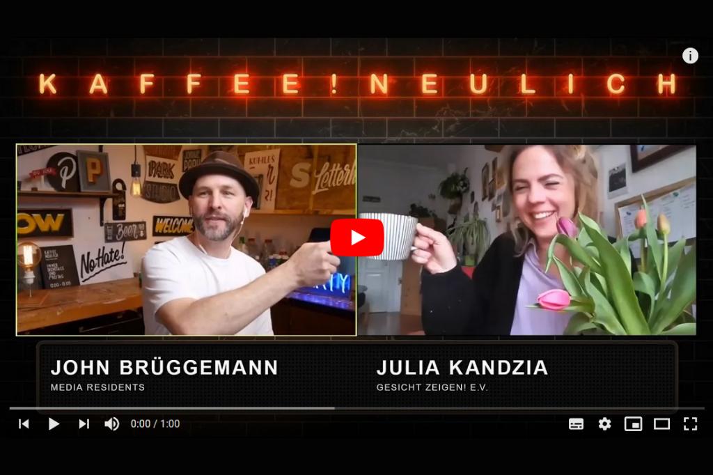 Teaser Titel #KaffeeNeulich auf YouTube